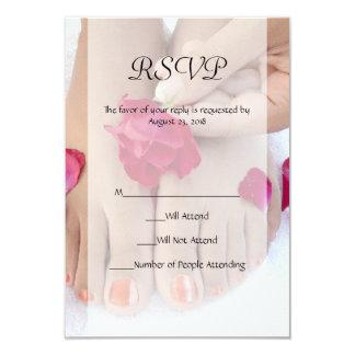 Pretty Fuchsia Pink Rose Pedicure Salon Card