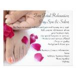 Pretty Fuchsia Pink Rose Pedicure Salon Flyer