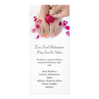 Pretty Fuchsia Pink Rose Pedicure Salon Rack Cards