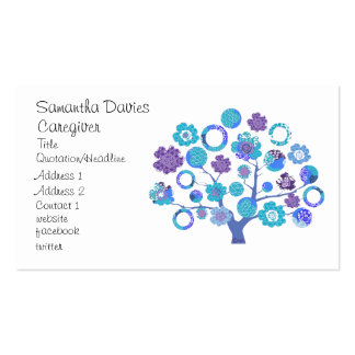 pretty funky blossoms tree of life Japanese style Business Cards