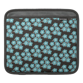 pretty funky blue japanese cherry blossoms flowers sleeve for iPads