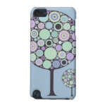 pretty funky retro circles blue lollypop trees iPod touch (5th generation) cases
