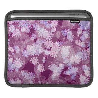 pretty funky spring daisy flowers & leaf pattern iPad sleeves