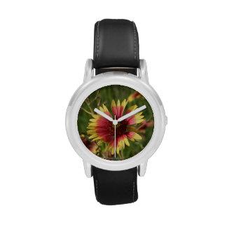 Pretty Gaillardia Flowers Wrist Watches