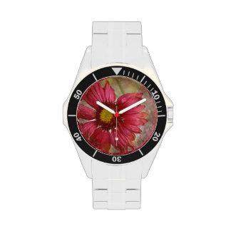 Pretty Gaillardia Flowers Wristwatch