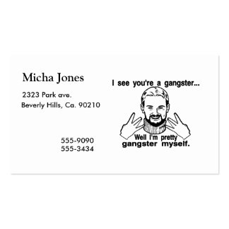 Pretty Gangster Myself Business Cards