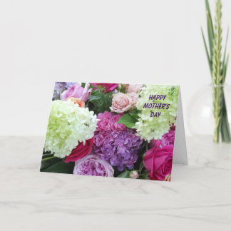 Pretty Garden Flower Bouquet Happy Mother's Day Card