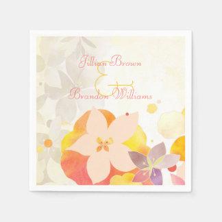 Pretty Garden Flowers Wedding Paper Napkin