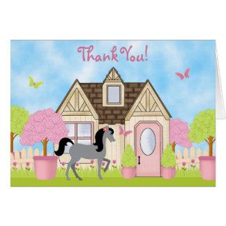 Pretty Garden Horse Thank You Cards