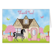 Pretty Garden Horse Thank You Cards