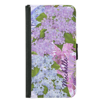 Pretty Garden Lilacs Purple Lilac Flowers Samsung Galaxy S5 Wallet Case