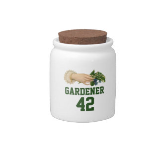 Pretty Gardening Sport Number Candy Dish