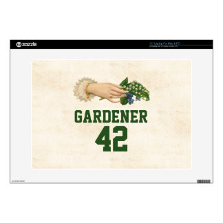 "Pretty Gardening Sports Team Decal For 15"" Laptop"