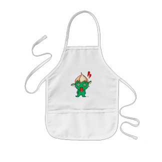 Pretty genie with flower in the head kids' apron
