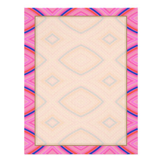 Pretty Geometric in Mostly Pink Letterhead Template