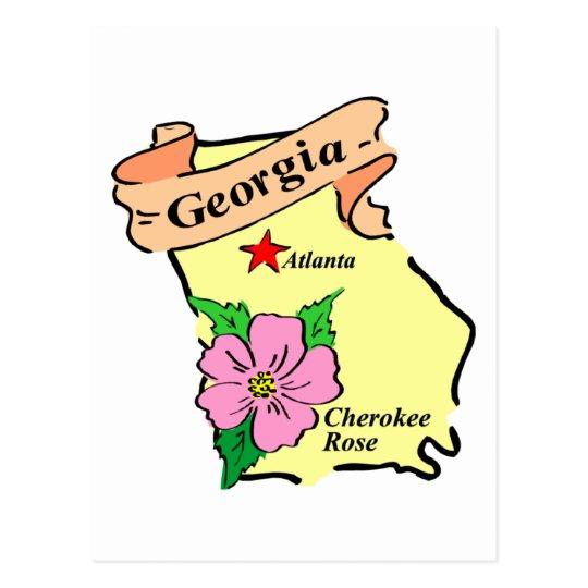 Pretty Georgia Map Tees and Gifts Postcard