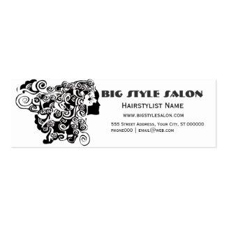 Pretty Gir Long Wavy Hair Salon Makeup Artist Mini Business Card