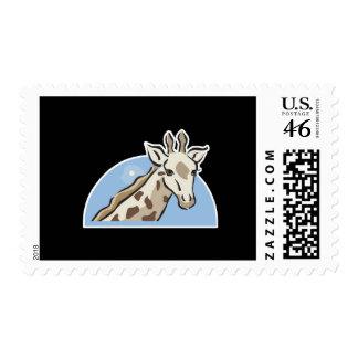pretty giraffe head design postage