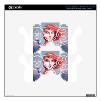 Pretty Girl And Her Bird PS3 Controller Skin