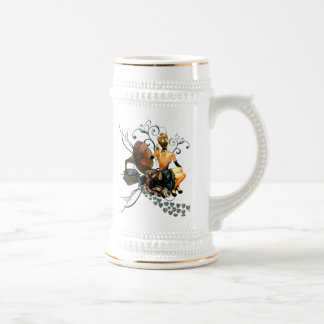Pretty Girl. Beer Stein
