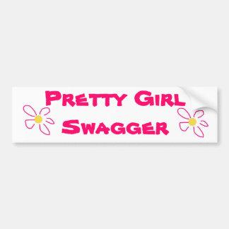 Pretty Girl Bumper Sticker