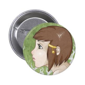 Pretty Girl Pinback Button