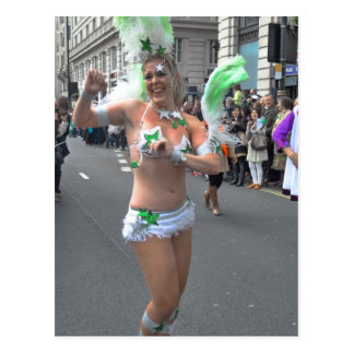Pretty Girl Dancer, St Patrick's Day Parade London Postcard