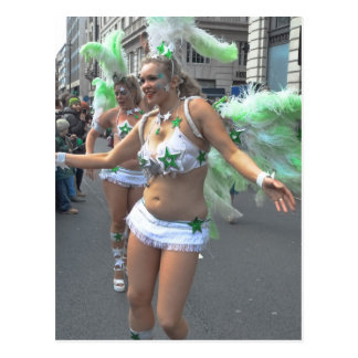 Pretty Girl Dancer St Patrick's Day Parade, London Postcard
