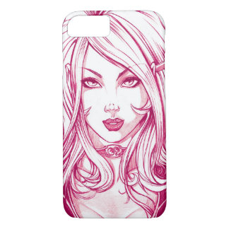 Pretty Girl Face - Pink iPhone 7 Case