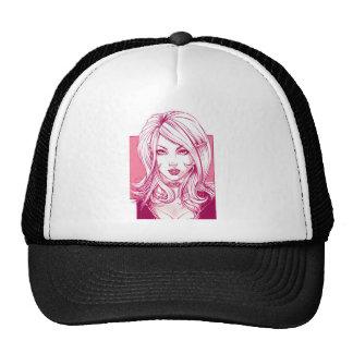 Pretty Girl Face - Pink Trucker Hat