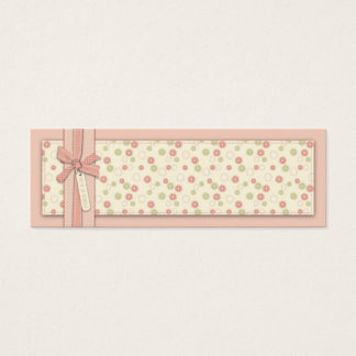 Pretty Girl Floral Skinny Gift Tag