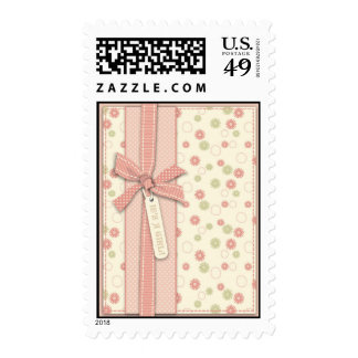Pretty Girl Floral Stamp