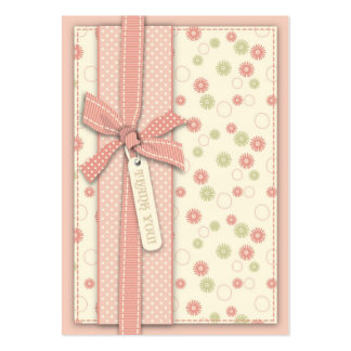 Pretty Girl Floral TY Notecard Large Business Cards (Pack Of 100)