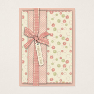 Pretty Girl Floral TY Notecard Business Card