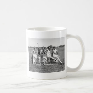 Pretty Girl Golfers, 1920s Classic White Coffee Mug