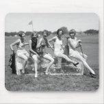 Pretty Girl Golfers, 1920s Mousepad