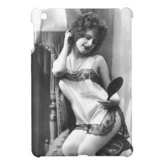Pretty Girl with a Mirror Cover For The iPad Mini