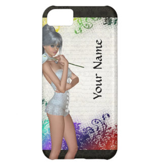 Pretty girl with lily iPhone 5C case