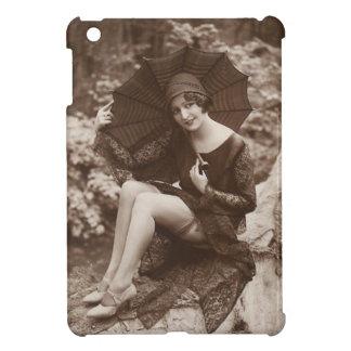Pretty Girl with Umbrella Case For The iPad Mini