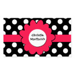 Pretty Girlie Girl Play Date Card Business Card Template