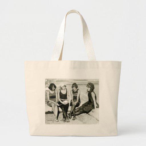 Pretty Girls, 1920s Jumbo Tote Bag