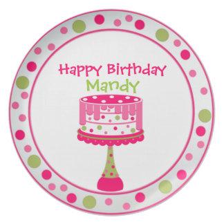 Pretty Girl's Birthday Plate