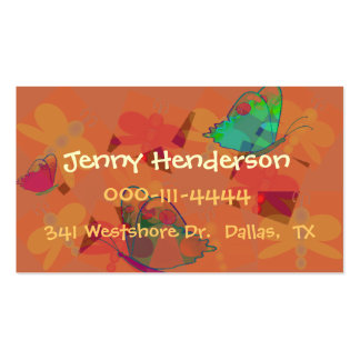 Pretty Girl's calling card Business Cards