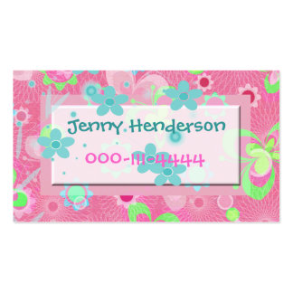 Pretty Girl's calling card Business Card