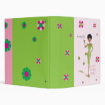 Pretty Girls Pink and Green Binder