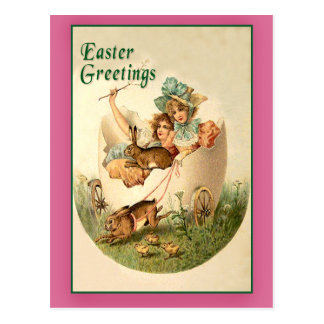 Pretty Girls Vintage Easter Cards Post Card