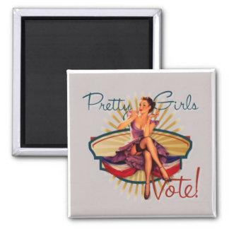 Pretty Girls Vote! Refrigerator Magnets