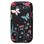 Pretty Girly Butterflies Flowers Pink Blue Pastel Galaxy S3 Cover