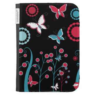 Pretty Girly Butterflies Flowers Pink Blue Pastel Case For The Kindle