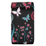 Pretty Girly Butterflies Flowers Pink Blue Pastel Motorola Droid RAZR Case